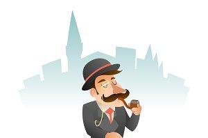 Smoking Victorian Gentleman