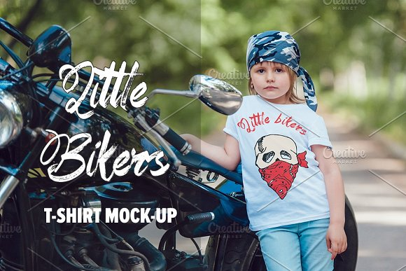 Download Little Bikers T-Shirt Mock-Up