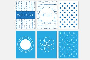 Blue theme templates