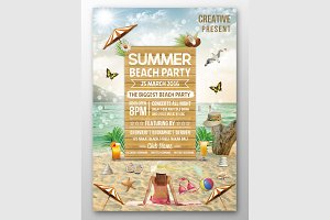 Beach Party Flyer 01