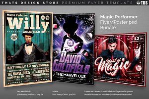 Magic Performer Flyer Bundle