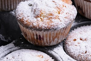 Muffins sugar powder