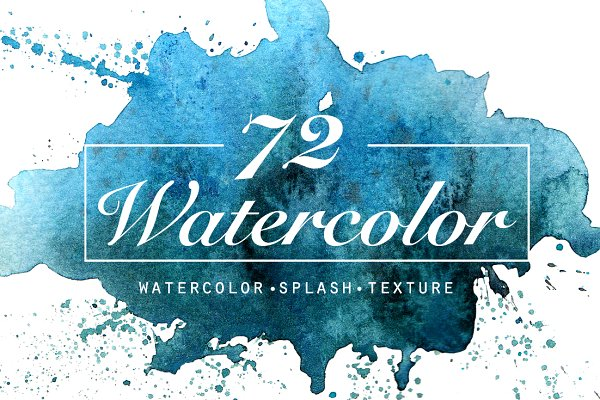 Watercolour texture and splatter