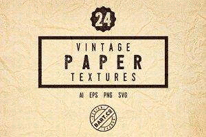 24 Halftone Crumpled Paper Textures