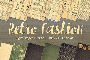 Retro Fashion digital paper