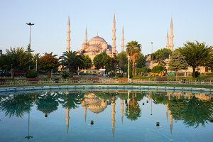 Blue Mosque at Dawn in Istanbul