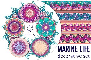 Marine Life Decorative Set