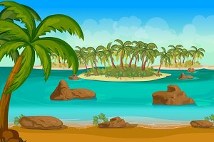 Tropical Islands 2d Landscape