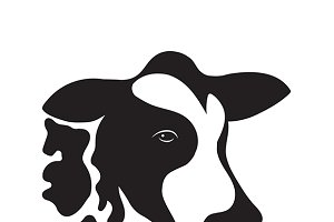 Vector of cow design