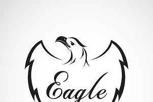 Vector of eagle design