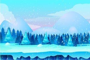 Winter Landscape 2d Game Application