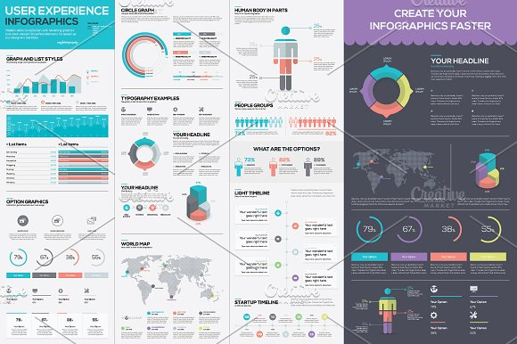 infographic template vector kit illustrations creative market