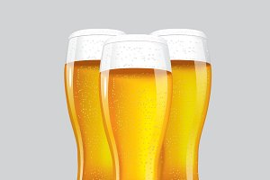 3 Beer glass