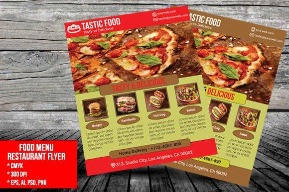 food menu restaurant flyer flyer templates creative market