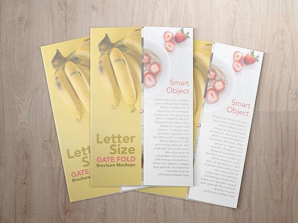 85 11 Gatefold Brochure Mockups Product Mockups on Creative Market – Gate Fold Brochure Mockup
