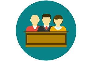 Jury icon flat