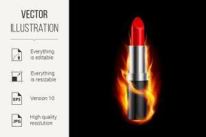Fiery lipstick