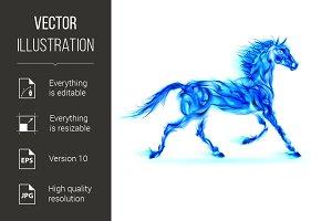 Blue fire horse.