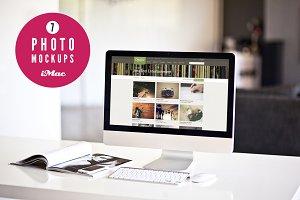 7 iMac photo mockups