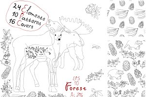 Weekend in the forest! Hand drawn