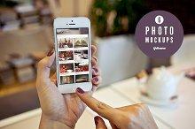 6 iPhone photo mockups