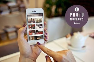 6 iPhone photo mockups