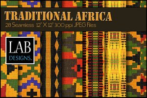 28 African Woven Fabric Textures