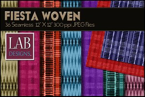 36 Bright Woven Fabric Textures