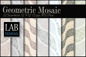 22 Geometric Mosaic Tile Backgrounds