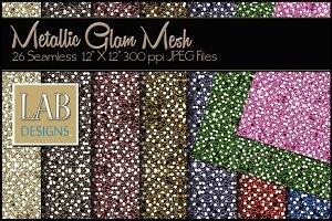 26 Metallic Mesh Glam Textures