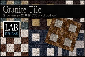 24 Seamless Granite Tile Textures