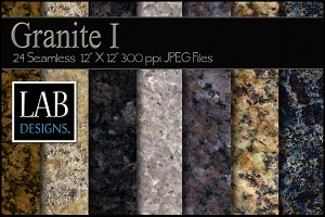 24 Seamless Granite Textures I