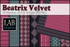 28 Patterned Velvet Fabric Textures