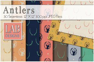 20 Antler Fabric Background Textures