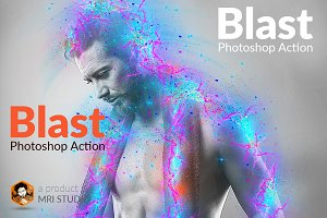 Blast Photoshop Action