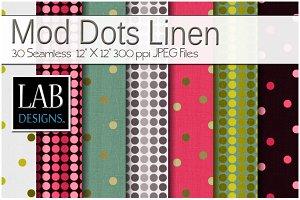 30 Mod Polka Dot Linen Textures