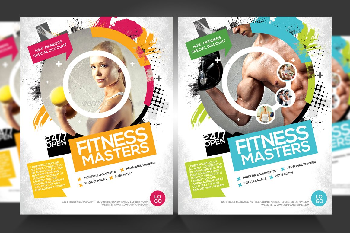 FitnessGym Business Promotion Flyer Flyer Templates Creative – Free Fitness Flyer Templates