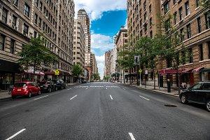 New York City Manhattan empty street