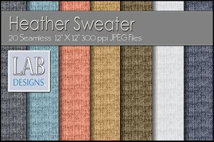 20 Seamless Knit Sweater Textures