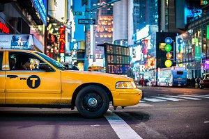Yellow cabs in Manhattan, NYC