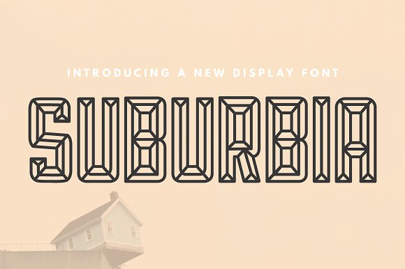 suburbia display fonts creative market