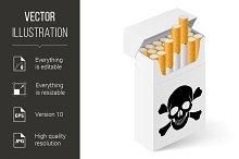 White Pack of cigarettes