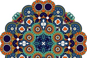 Pretty design colored mandala