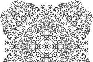 Geometric patterns on white