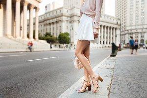 Beautiful long female legs