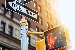 New York City road sign
