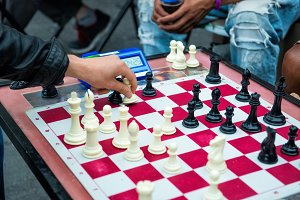 Chess street tournament.