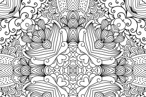 Floral zentangle like pattern