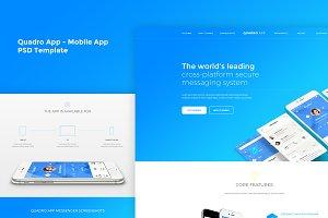 Quadro App - Mobile App PSD Template