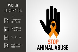 Stop Animal Abuse sign